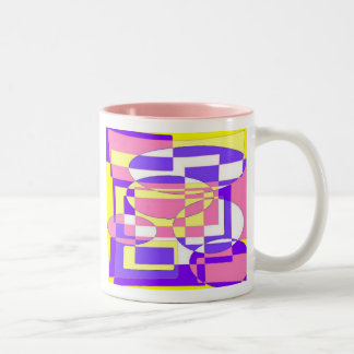 Psychedelic Two-Tone Coffee Mug