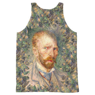 Psychedelic Vincent van Gogh Self Portrait All-Over Print Tank Top