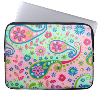 Psychedelic Vintage Texture Pattern Laptop Sleeve