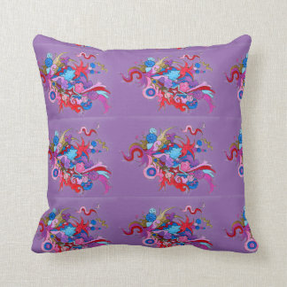 Psychedelic Wave Cushion