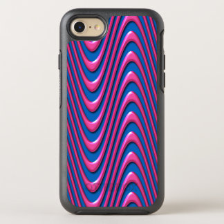 Psychedelic Wave Neon Pink and Bright Blue Bold OtterBox Symmetry iPhone 8/7 Case