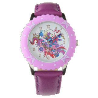 Psychedelic Wave Wristwatches
