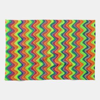 Psychedelic Waves Tea Towel