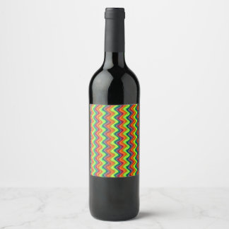 Psychedelic Waves Wine Label
