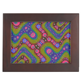 Psychedelic Wavy Abstract Pattern Keepsake Boxes