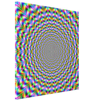 Psychedelic Web Print Canvas Print