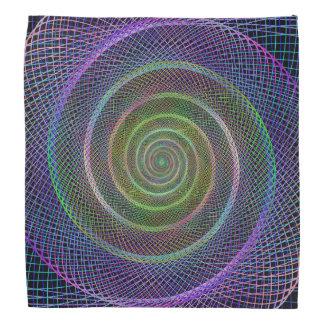 Psychedelic Webbed Spiral Bandana