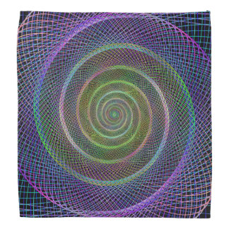 Psychedelic Webbed Spiral Bandannas