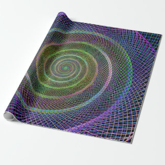 Psychedelic Webbed Spiral Wrapping Paper