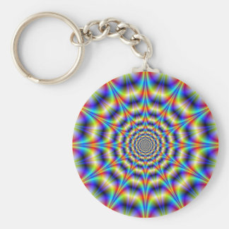 Psychedelic Wheel Key Chain