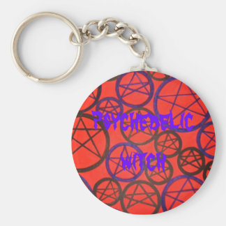 psychedelic witch key fob