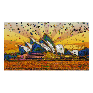 Psychedelic World Sydney Skyline A1 Business Card Template