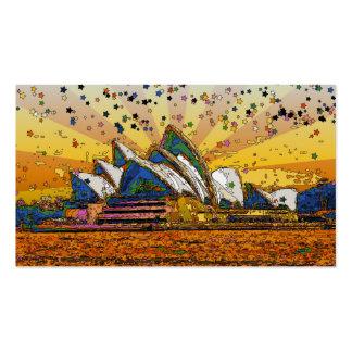Psychedelic World: Sydney Skyline A1 Pack Of Standard Business Cards