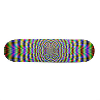 Psychedelic Worm Hole Skateboard