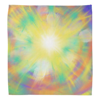 Psychedelic Yellow Star Abstract Art Design Bandana