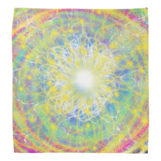 Psychedelic Yellow Star Abstract Art Design Bandannas