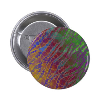Psychedelic Zebra Abstract Pattern 6 Cm Round Badge