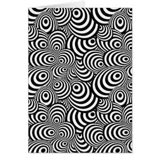 Psychedelic Zebra Card
