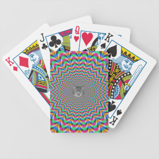 Psychedelic Zigzag Rings Cat Bicycle Playing Cards