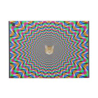 Psychedelic Zigzag Rings Cat iPad Mini Case