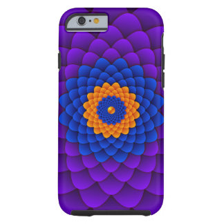 Psychedelic Zinnia Flower Tough iPhone 6 Case