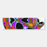 Psychedellic Skull Bumper Stickers