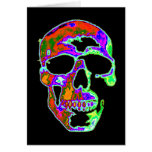 Psychedellic Skull Greeting Card