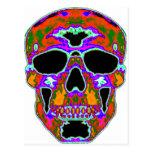 Psychedellic Skull Postcard
