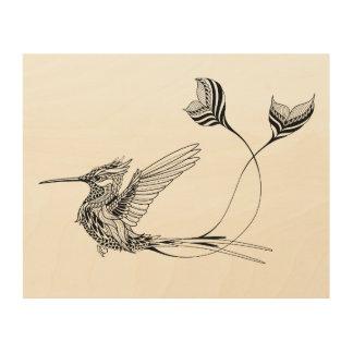 Psychedlic Bird Tattoo 5 Wood Canvas