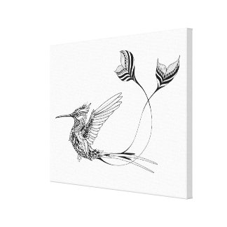 Psychedlic Bird Tattoo 6 Canvas Print