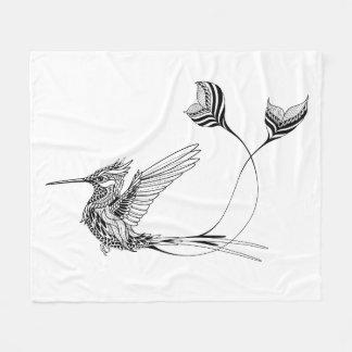 Psychedlic Bird Tattoo Fleece Blanket