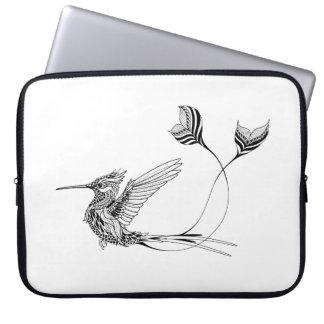 Psychedlic Bird Tattoo Laptop Sleeve