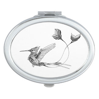 Psychedlic Bird Tattoo Makeup Mirror