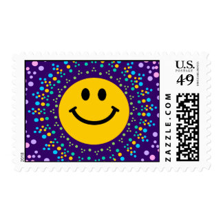 Psychedlic Happy Hippy Smiley Stamps