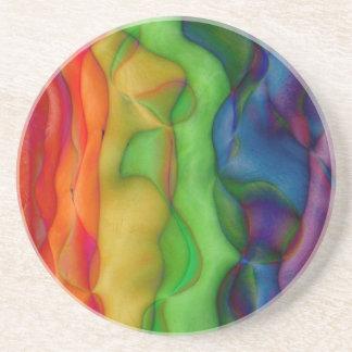 Psychedlic Hippy Rainbow Acid Trip Coaster