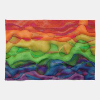 Psychedlic Hippy Rainbow Acid Trip Tea Towel