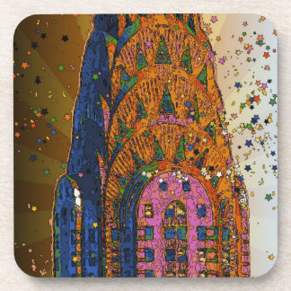Psychedlic NYC: Chrysler Building Top Closeup #1 Coaster