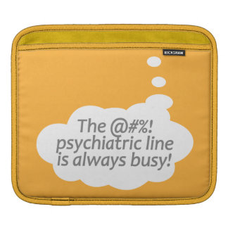 Psychiatric Line custom color iPad sleeve