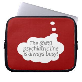 Psychiatric Line custom color laptop sleeve