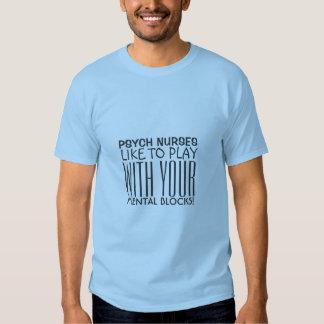 Psychiatric Nurse Humor-Mental Blocks Tshirts