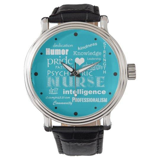 Psychiatric Nurse Pride-Attributes/White Heart Watch