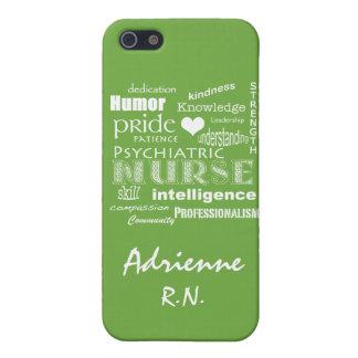 Psychiatric Nurse Pride+Name/Lime Green iPhone 5 Cases