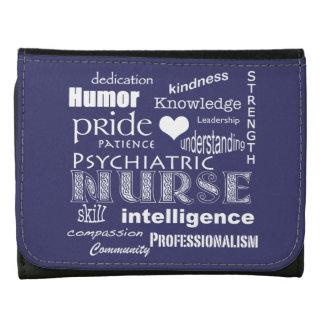 Psychiatric Nurse-Word Cloud/Lavender Blue Wallets