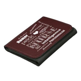 Psychiatric Nurse-Word Cloud/Oxblood Red Leather Wallet