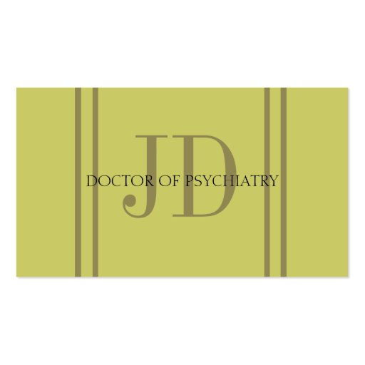 Create your own psychiatrist business cards psychiatrist vert gold stripe gg business cards colourmoves