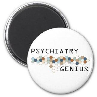 Psychiatry Genius 6 Cm Round Magnet