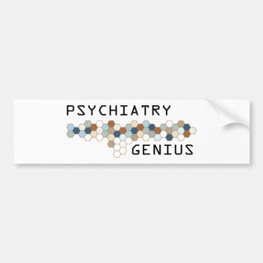 Psychiatry Genius Bumper Stickers