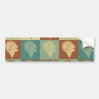 Psychiatry Pop Art Bumper Sticker