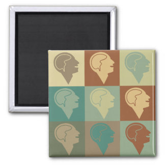 Psychiatry Pop Art Square Magnet