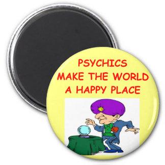 psychic 6 cm round magnet